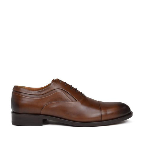 SASSIOLO LACE-UP OXFORD - BROWN LEATHER