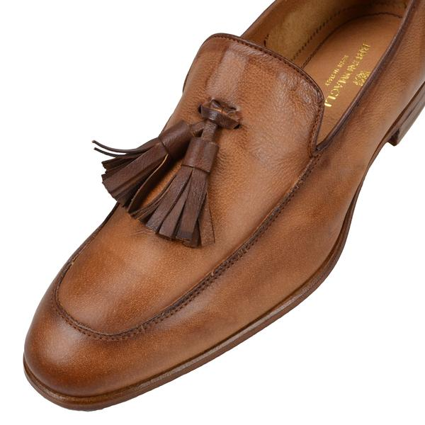 IKO LEATHER TASSLE LOAFER - COGNAC LEATHER