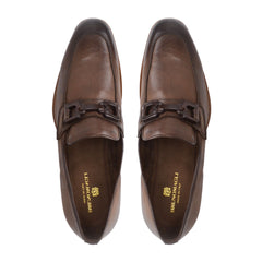 INDIO LEATHER SLIP-ON - DARK BROWN LEATHER