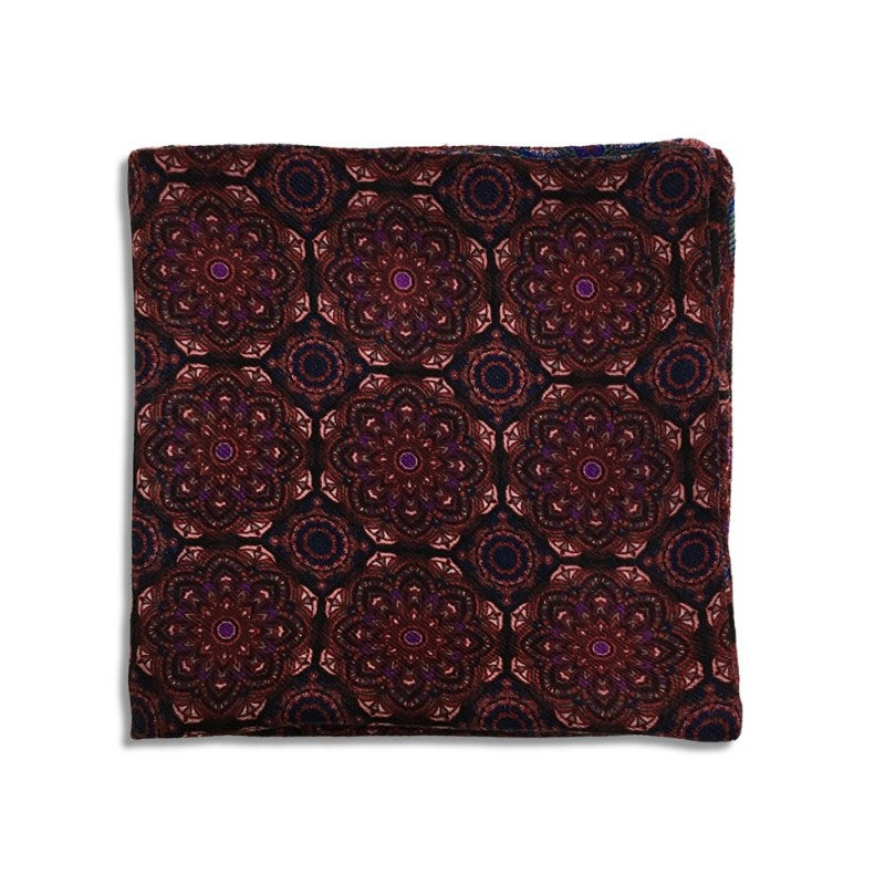 Bordeaux and black cashmere pocket square 417242-2 + 417245-2 Mod. V009