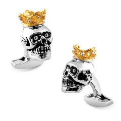 King Skull Cufflinks,CUFFLINKS,TATEOSSIAN, | GentRow.com