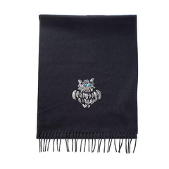 cashmere scarf with hand painted owl,Scarf,Gent Row, | GentRow.com