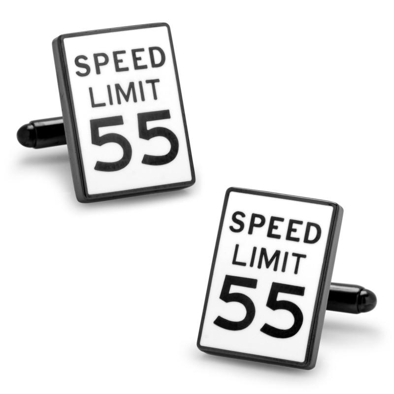 Speed Limit Sign Cufflinks,CUFFLINKS,GentRow.com, | GentRow.com