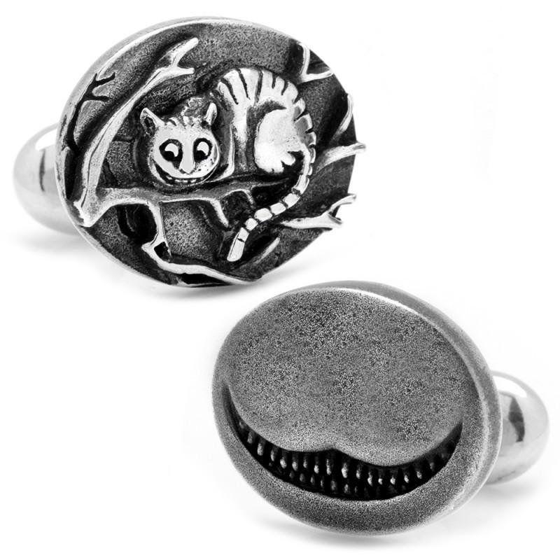 Alice in Wonderland Sterling Silver Cheshire Cat Cufflinks,CUFFLINKS,GentRow.com, | GentRow.com