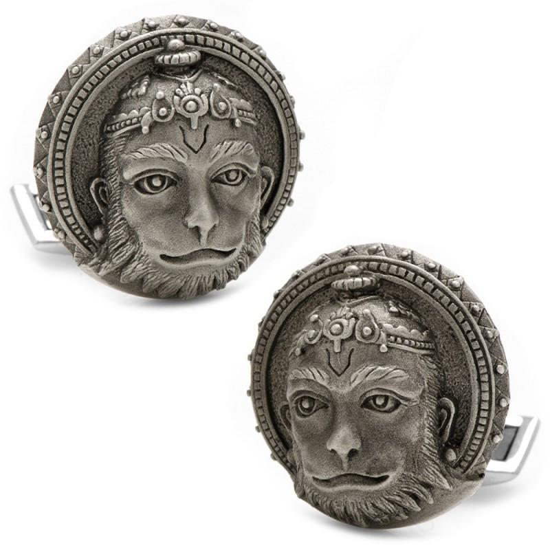 Hanuman Hindu God for Strength Sterling Silver Cufflinks,CUFFLINKS,GentRow.com, | GentRow.com