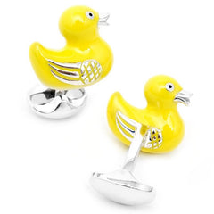 Yellow Rubber Duck Cufflinks,CUFFLINKS,GentRow.com, | GentRow.com