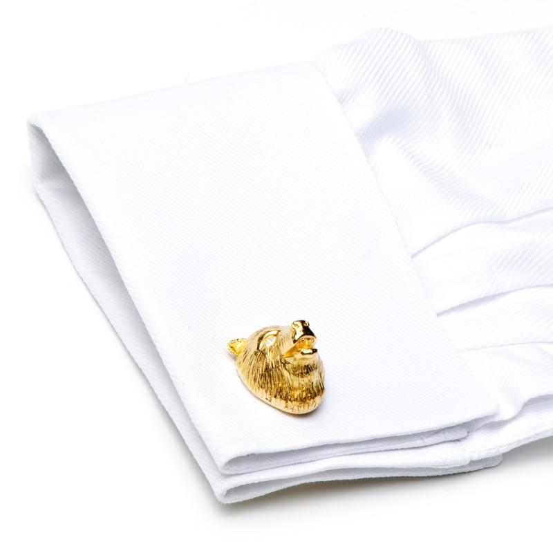 18K Gold & Diamond Eyes Bull & Bear Cufflinks,CUFFLINKS,Jacob & Co, | GentRow.com