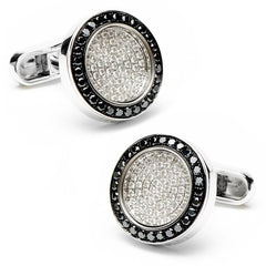 Black & White Diamond Framed Cufflinks,CUFFLINKS,Jacob & Co, | GentRow.com