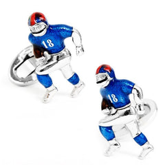 Football Player Cufflinks,CUFFLINKS,GentRow.com, | GentRow.com