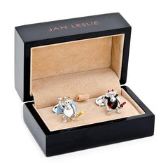 Moving Angel and Devil Monkey Cufflinks,CUFFLINKS,GentRow.com, | GentRow.com