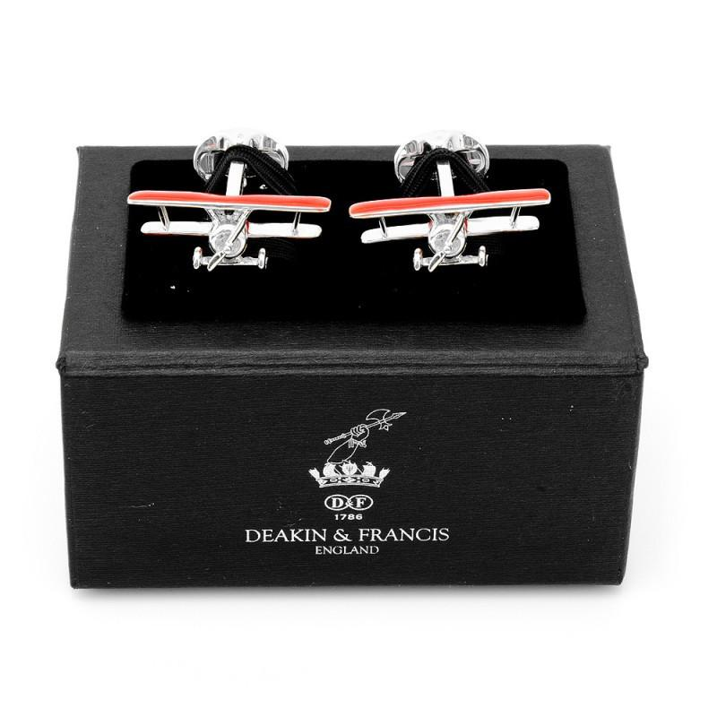 Sterling Red Winged Bi Plane Cufflinks,CUFFLINKS,GentRow.com, | GentRow.com