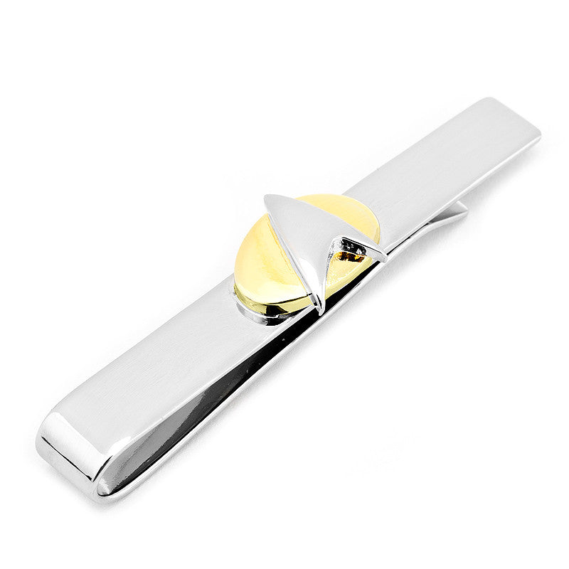Two Tone Star Trek Delta Shield Tie Bar,Tie Bar,GentRow.com, | GentRow.com