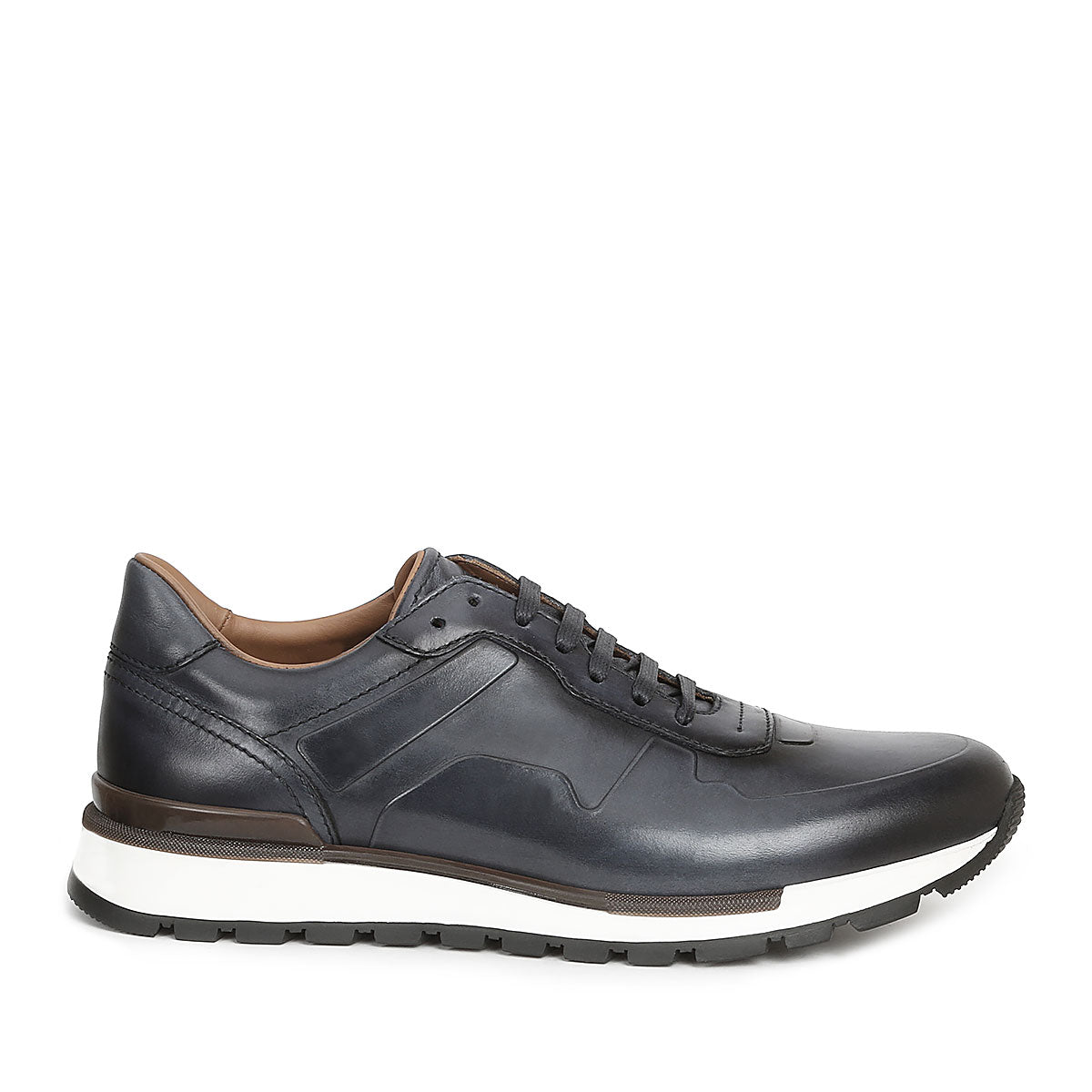 d6703fd433fb5 Davio Hand-Burnished Leather Sneaker,SHOES,Bruno Magli, | GentRow.com