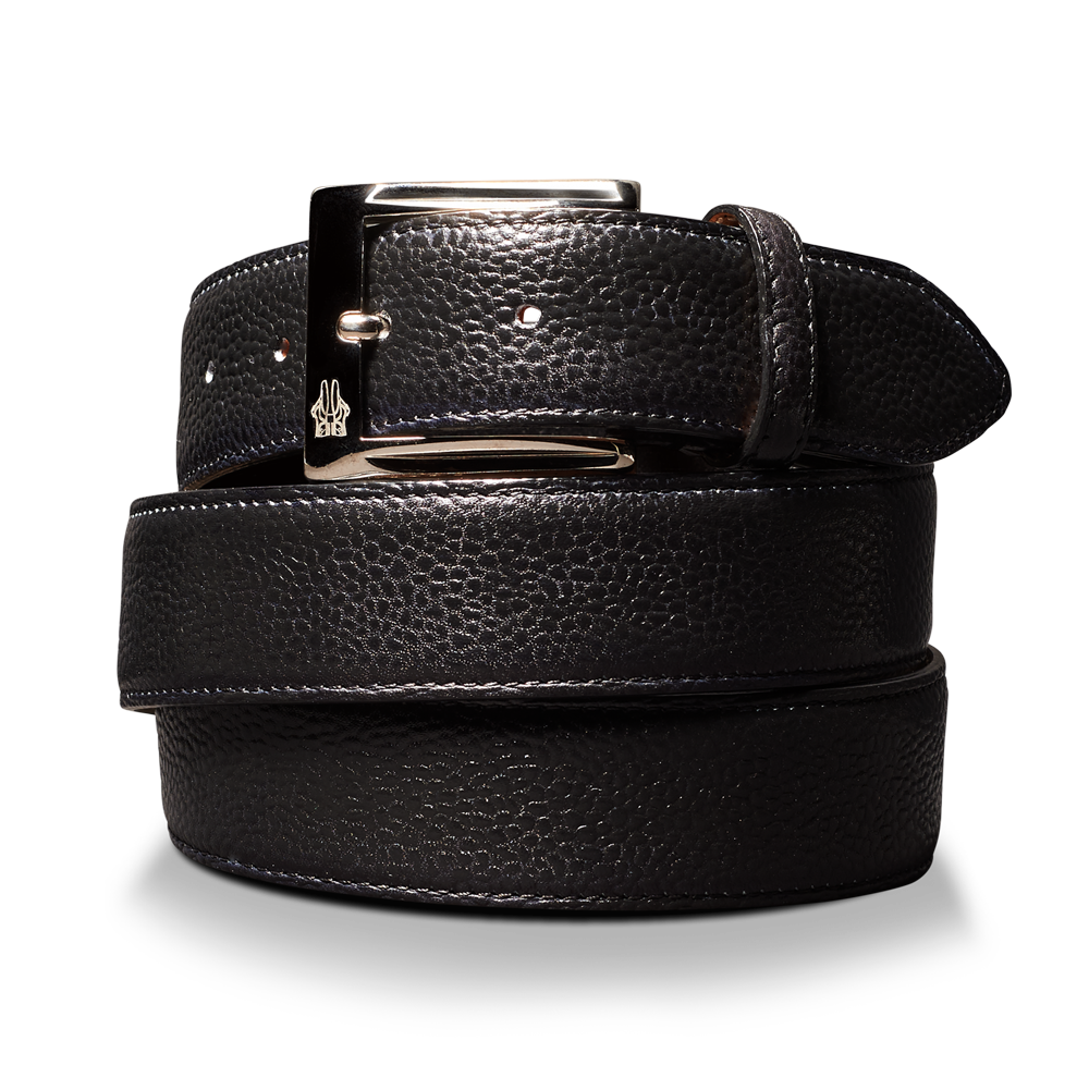 Belt in Scotch Grain Nero
