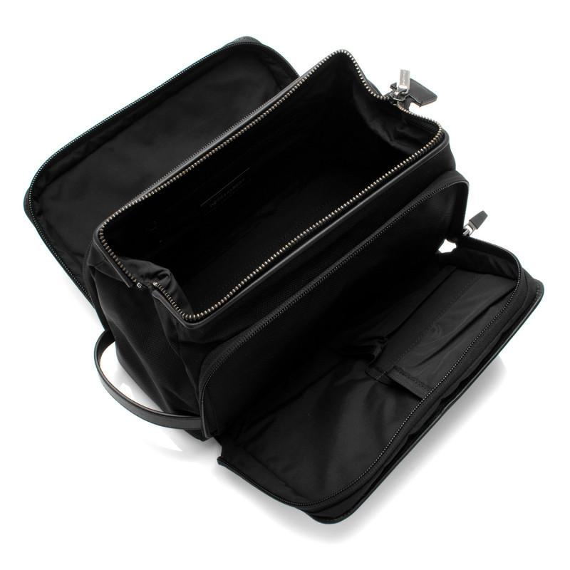 Black Leather Travel Dopp Kit,BAGS,GentRow.com, | GentRow.com