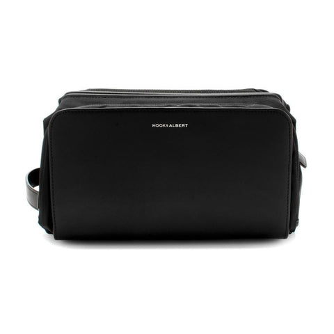 Black Leather Travel Dopp Kit