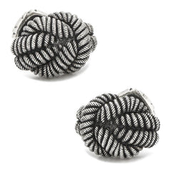 Sterling Silver Nautical Knot Cufflinks,CUFFLINKS,GentRow.com, | GentRow.com