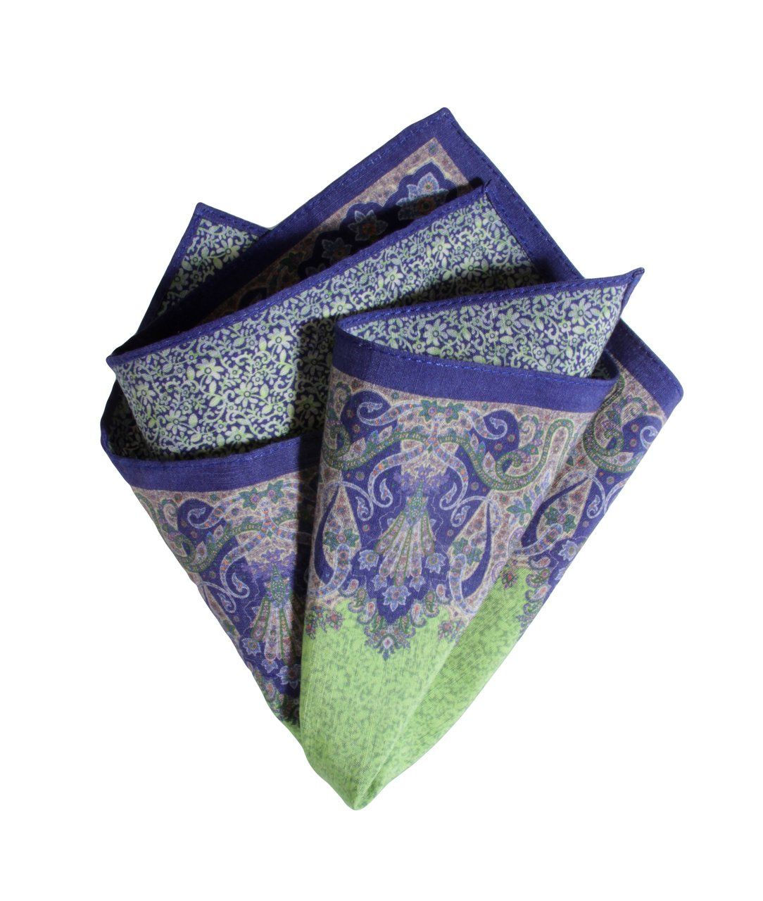 POCKET SQUARE GREEN 4050,POCKET SQUARE,GEORG ROTH, | GentRow.com