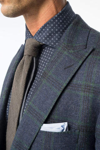 Blue with Green Window Pane Sport Coat