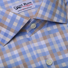 Blue & Brown Bold Gingham Check,SHIRTS,Gent Row, | GentRow.com