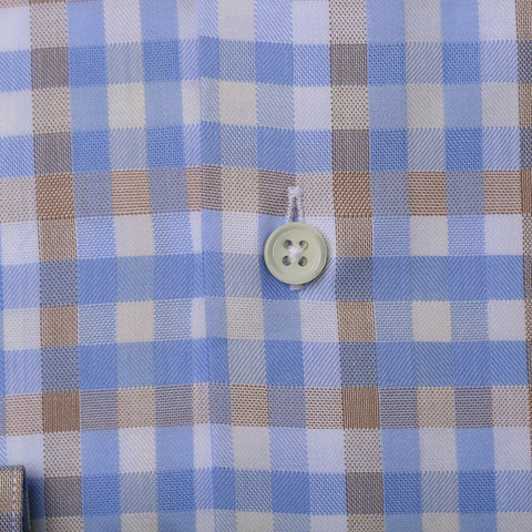 Blue & Brown Bold Gingham Check