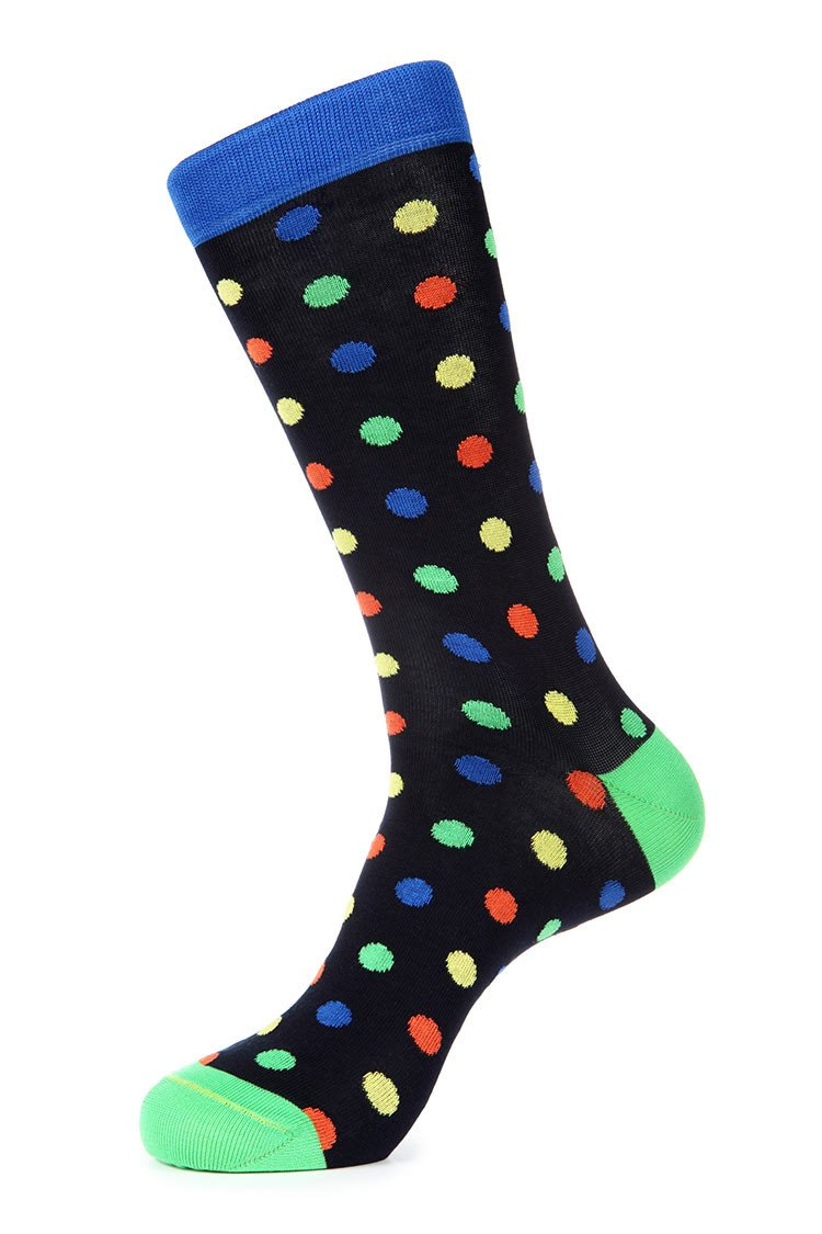 Black Blue Green Mercerized Socks for Men JL-7037-2
