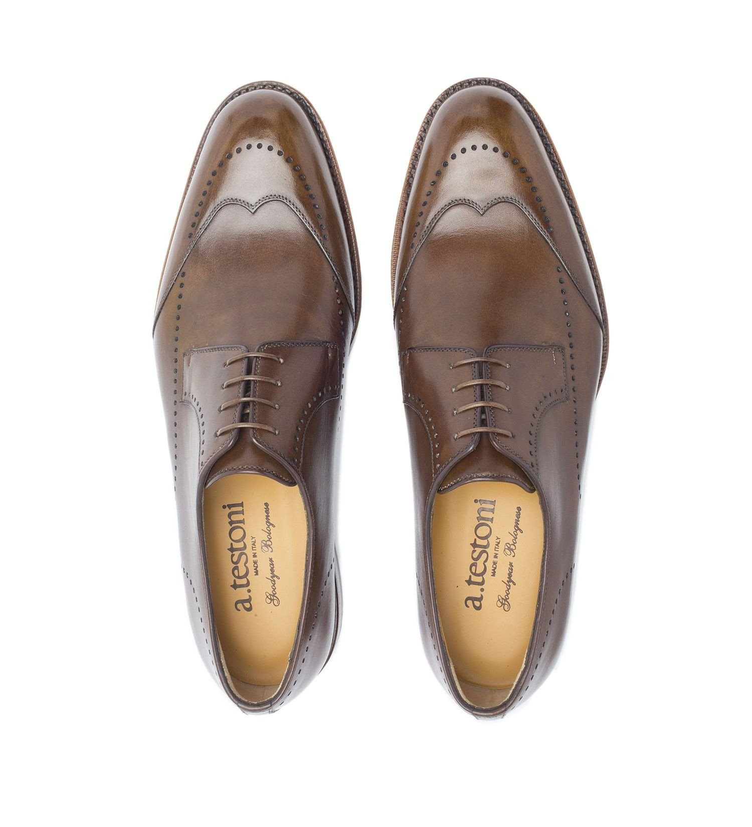 EXTRA-FLEXIBLE LACE-UP IN LEATHER,SHOES,A.TESTONI, | GentRow.com