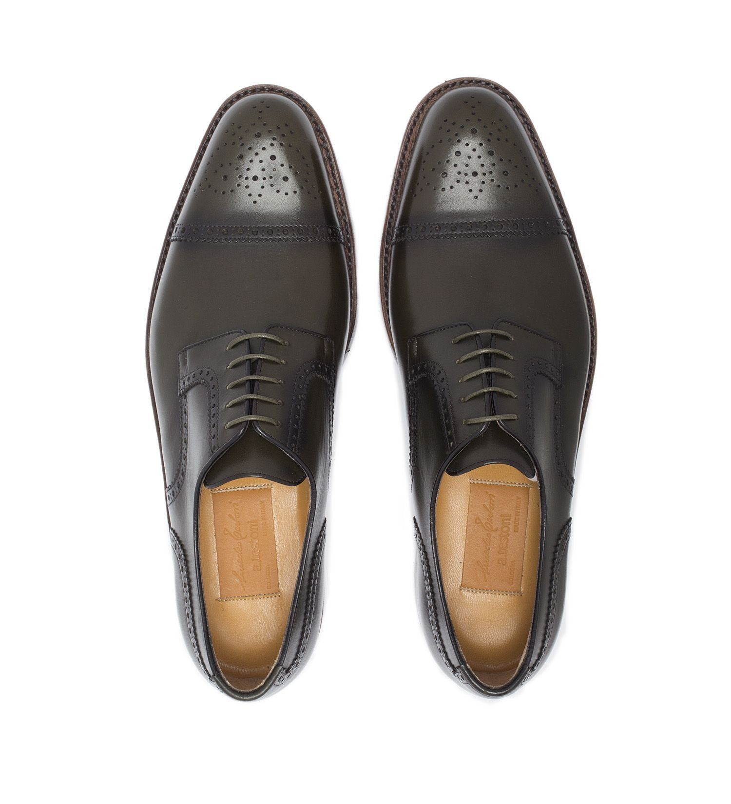 LACE-UP LEATHER CAP-TOE,SHOES,A.TESTONI, | GentRow.com