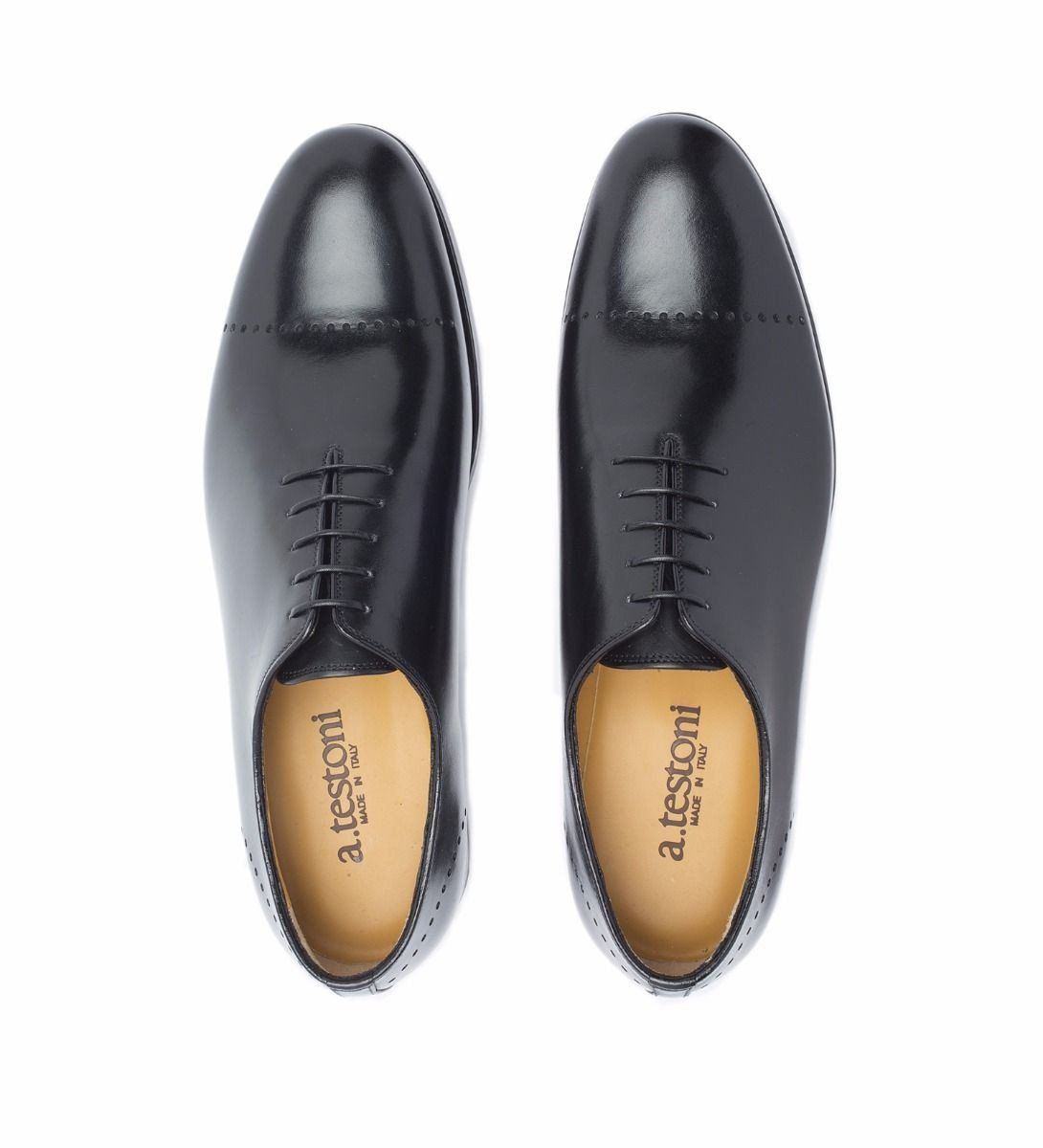 LACE-UP LEATHER SHOE,SHOES,A.TESTONI, | GentRow.com