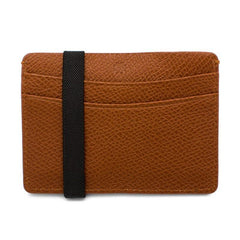 Brown Pebbled Leather Card Holder,CARD CASE,GentRow.com, | GentRow.com