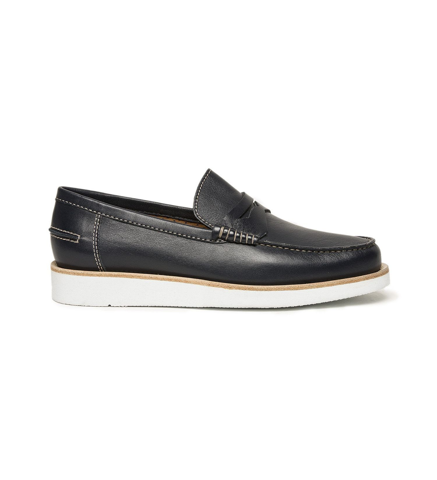 MOCCASIN IN LEATHER,SHOES,A.TESTONI, | GentRow.com