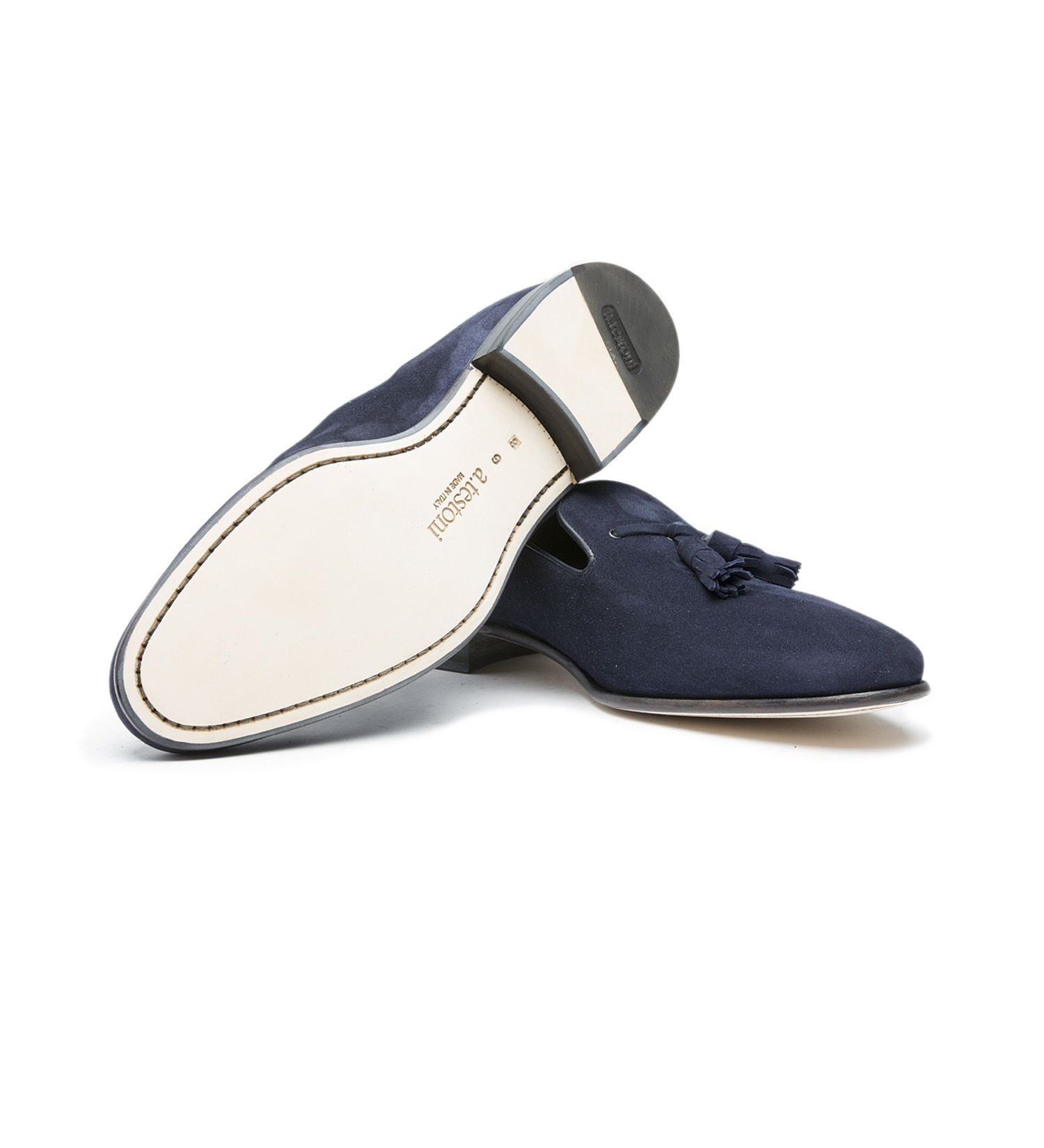 SUEDE SLIP-ON,SHOES,A.TESTONI, | GentRow.com