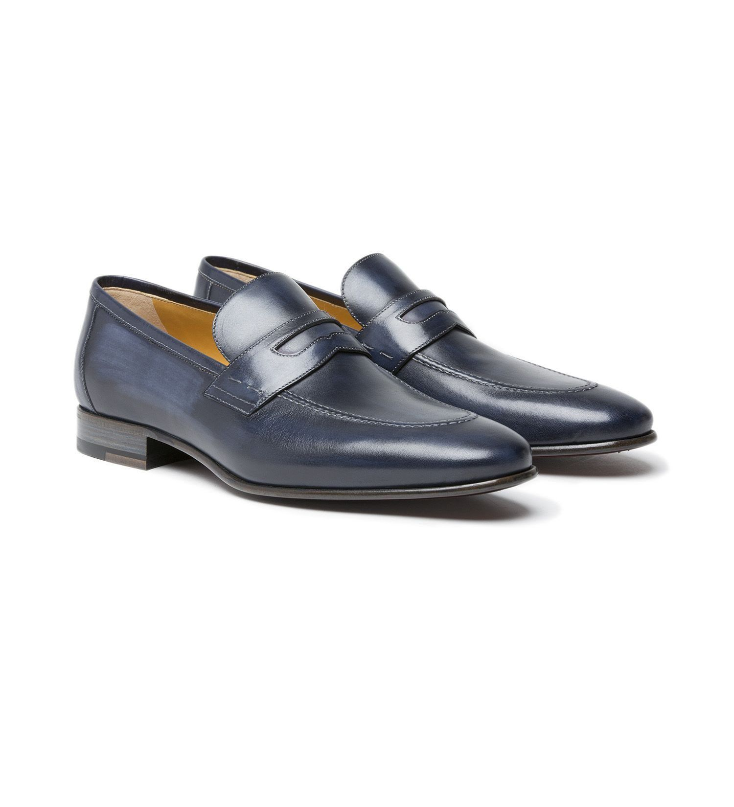 ANTIQUED LEATHER SLIP-ON,SHOES,A.TESTONI, | GentRow.com