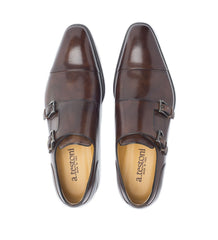 DERBY WITH ANTIQUED LEATHER BUCKLE,SHOES,A.TESTONI, | GentRow.com