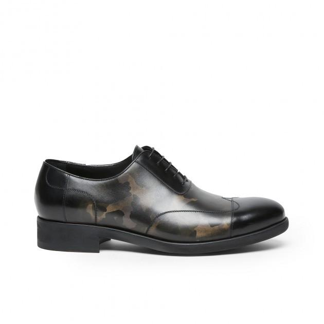New Studium Camouflage cap-toe Oxford,SHOES,A.TESTONI, | GentRow.com