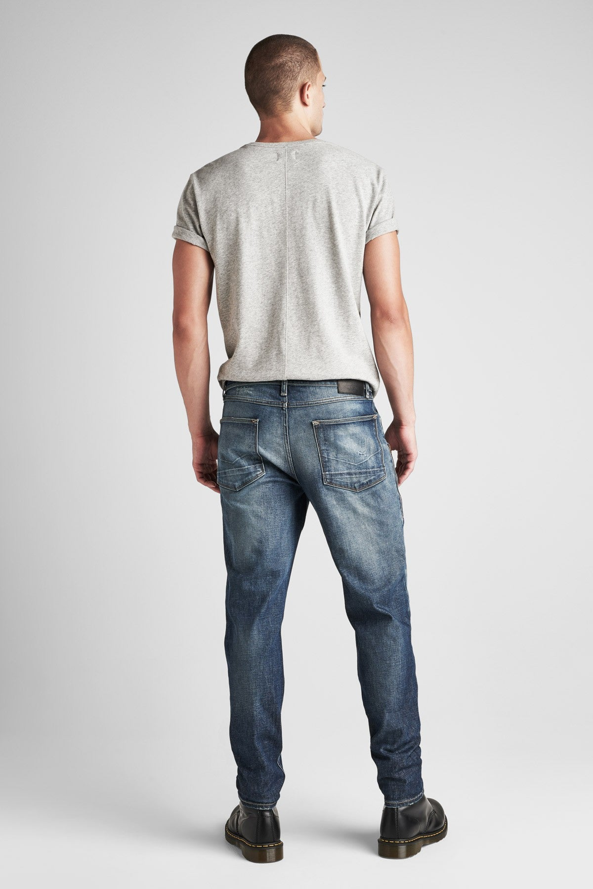SARTOR RELAXED SKINNY JEAN WITH EXPOSED ZIPPERS