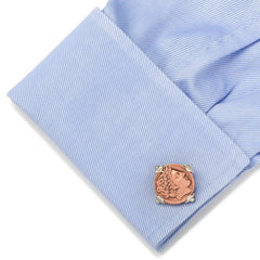 Sterling, Copper & Spinel Laureate head of Apollo Cufflinks,CUFFLINKS,GentRow.com, | GentRow.com