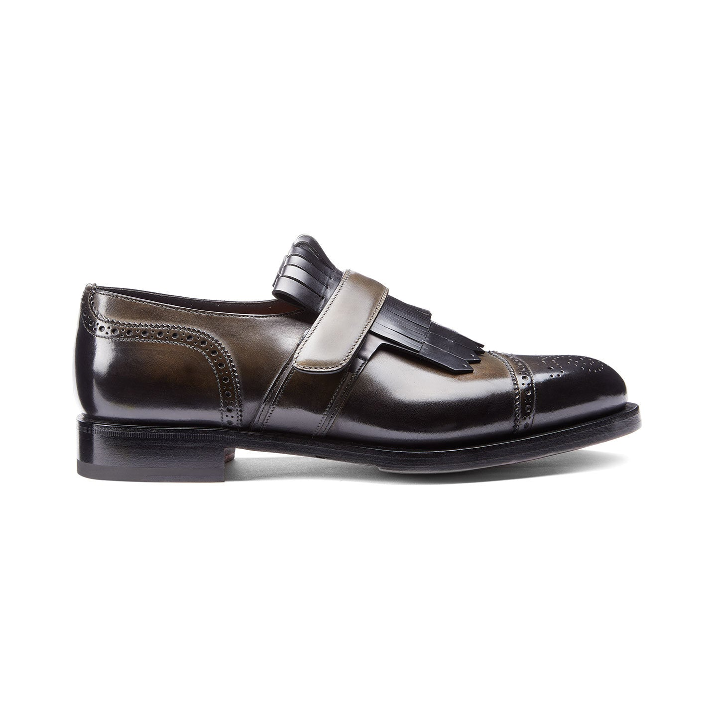 LEATHER SINGLE-BUCKLE SHOES