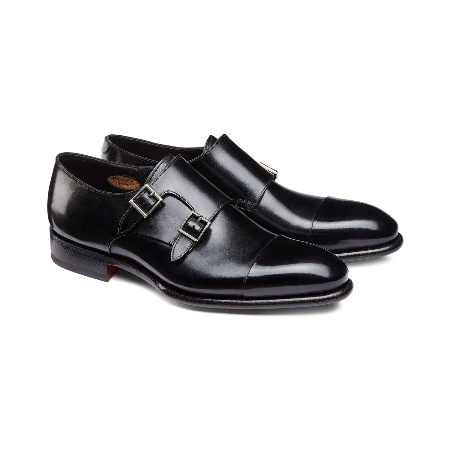 DOUBLE-BUCKLE LEATHER SHOES