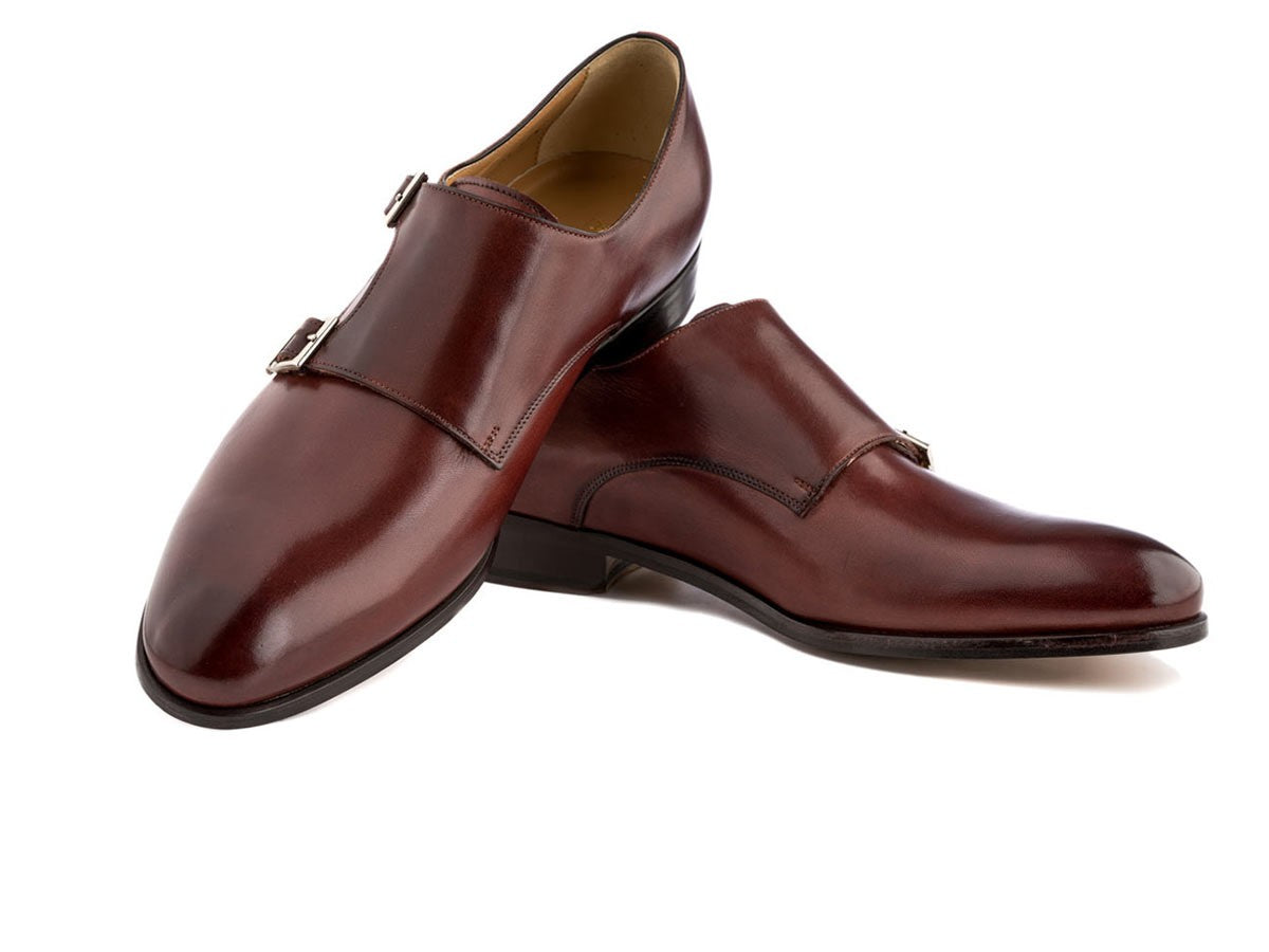 Monkstrap Dress Shoes in Brandy Antique Italian Leather,SHOES,Ace Marks, | GentRow.com