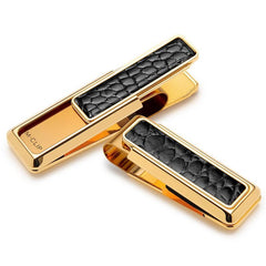 New Yorker Black Alligator Money Clip By M-CLIP,MONEY CLIP,M-CLIP, | GentRow.com