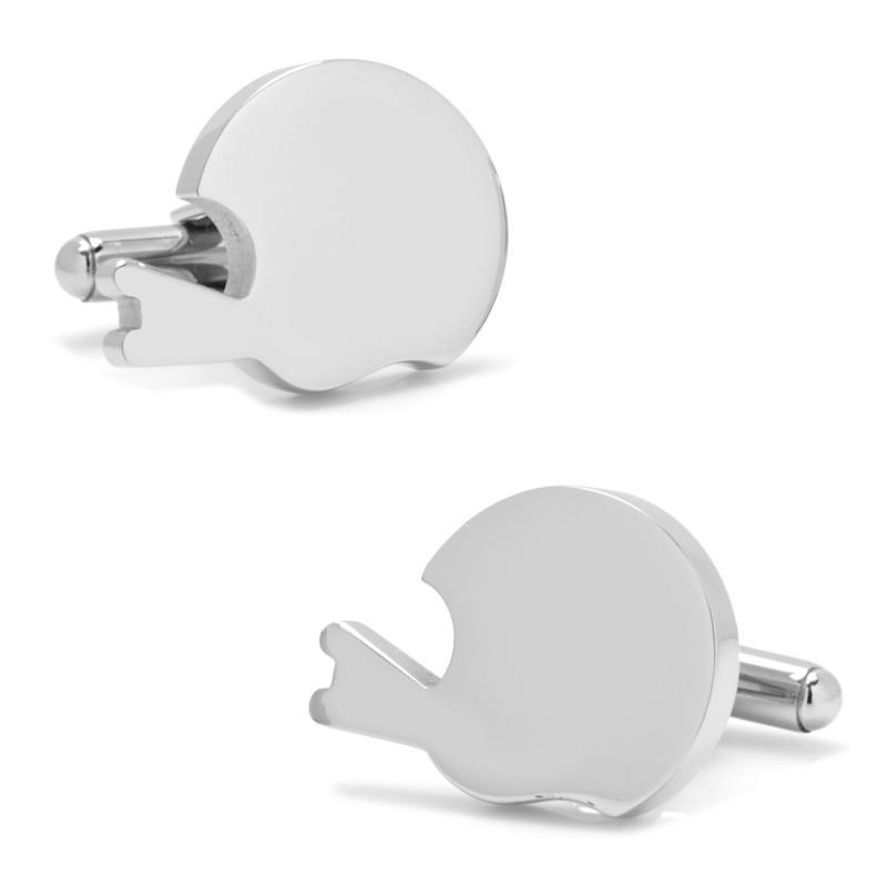 Stainless Steel Engravable Football Helmet Cufflinks,CUFFLINKS,GentRow.com, | GentRow.com