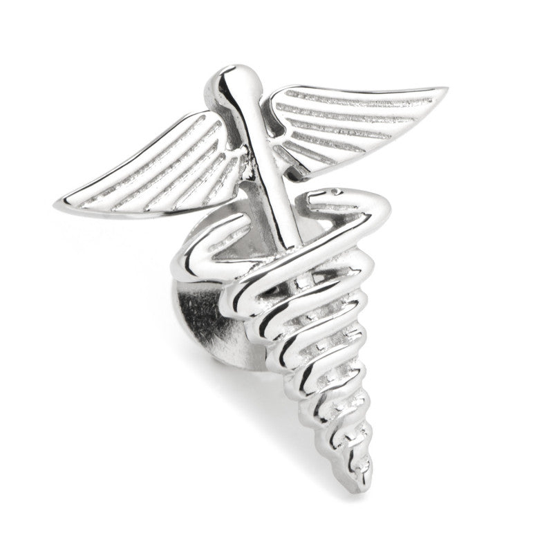 3D Medical Caduceus Lapel Pin,LAPEL PIN,GentRow.com, | GentRow.com