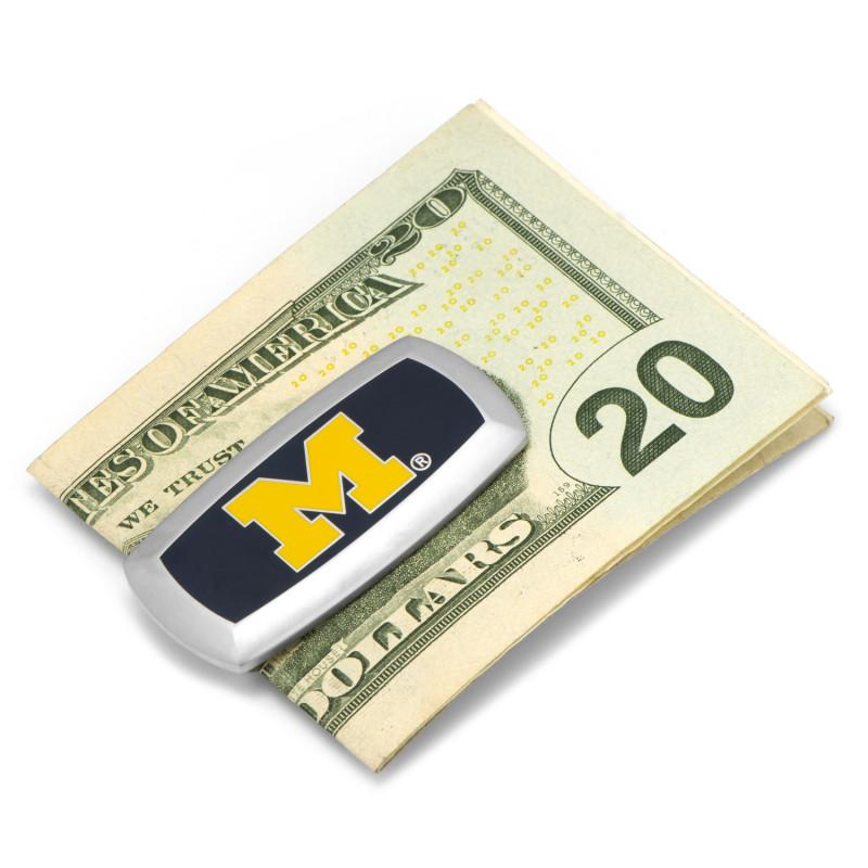 University of Michigan Wolverines Cushion Money Clip,MONEY CLIP,GentRow.com, | GentRow.com