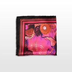 Pocket square with a fuchsia and black pattern Fall-Winter 16/17,POCKET SQUARE,Gent Row, | GentRow.com
