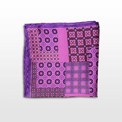 Pocket square with a purple and black pattern Fall-Winter 16/17