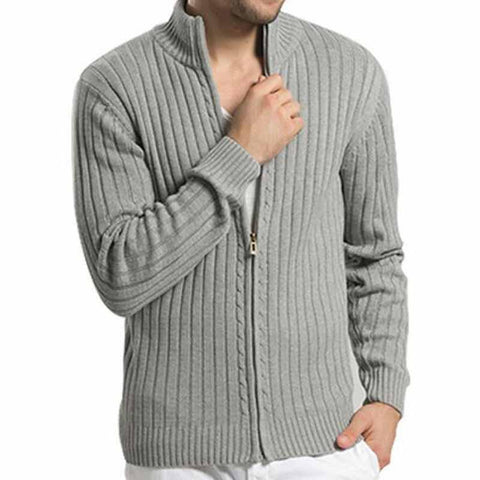 Cable Knit Full Zip Cardigan