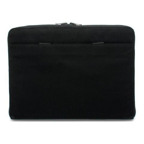 Black Waxed Canvas Reversible Portfolio