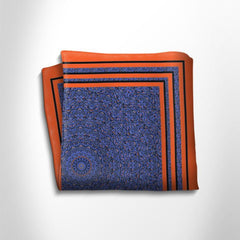 Red and blue patterned silk pocket square,POCKET SQUARE,Gent Row, | GentRow.com