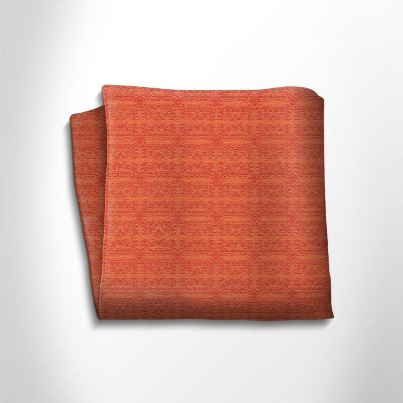Red patterned silk pocket square,POCKET SQUARE,Gent Row, | GentRow.com